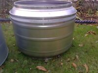X lge upcycled repurposed industrial stainless steel metal drum planter plant tub pot few available