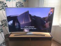 """Samsung 55"""" 4K Smart Curve, Ultra HD TV in WHITE (UE55JU6510)"""