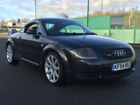 2005 AUDI TT 1.8 TURBO * BLACK WITH GREY LEATHER * LONG MOT * GOOD CONDITION * PART EX * DELIVERY *