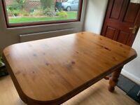 Solid Pine Farmhouse Kitchen Table