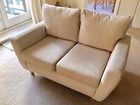 2 x Seater Sofa Cream fabric £75 ONO Excellent Condtion