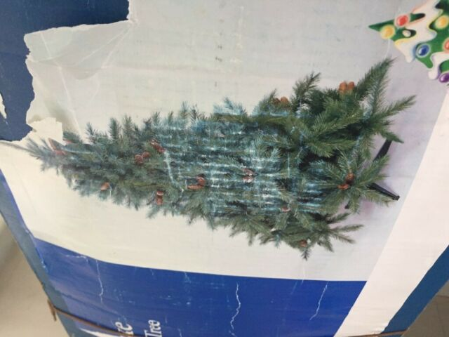 2 3m Realistic B Q Artificial Christmas Tree Chalet Deluxe Well Used With Battered Box In Cricklewood London Gumtree
