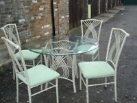 GARDEN OR PATIO TABLE AND CHAIRS