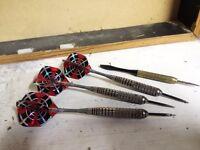 Dart board cabinet and darts - free