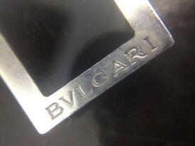 Luxury Bulgari Bvlgari Quadrato .925 Sterling Silver Money Clip, RRP £180