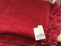 2 Red m&s throw overs beautiful