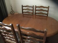 Mahogany wood Dining table and chairs