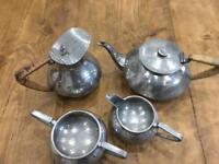 vintage Civic pewter 4-piece tea service