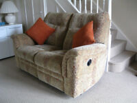 Parker knoll manual recliner 2 seater sofa.From pet and smoke free home.