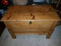 Beautiful antique chest/trunk with legs