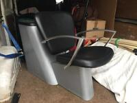 Hairdressers back wash chair unit