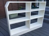 Solid Wood White Bookcase/Shelf Unit