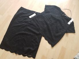 Black skirt and top. Esprit size 12