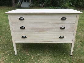 Hand Painted Vintage Chest of Drawers