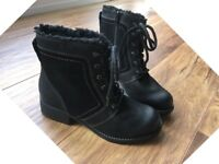 Brand New Ladies Black Leather Boots (Size 5: wider fit) RRP £69