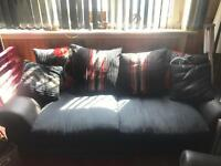 2x 3 seater sofa's,cushions can be rearranged.