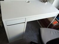 IKEA desk with storage (Micke) - hardly used, brand new condition