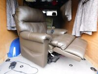 Leather Lift And Rise Reclining Duel Motor Chair(Delivery)