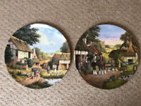 Royal Doulton Harvest Home plates Off to the Fields & Turning the Hay, Peter Kotka.£4 both, £2.50 ea