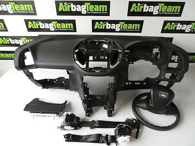 Ford B Max Airbag kit 2012   Onwards Dashboard Driver Passenger Seatbelt Knee