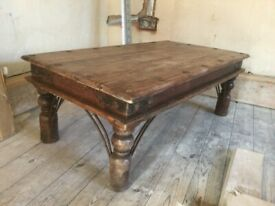 Solid Wood Sheesham Maharani Coffee Table / Can Deliver