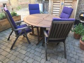 Royal Kensington Wooden Patio Table & Chairs