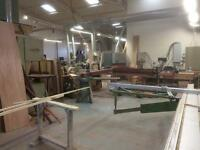 Woodworking workshop to let