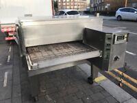 """CATERING COMMERCIAL LINCOLN GAS 32"""" PIZZA CONVEYOR BELT OVEN FAST FOOD RESTAURANT TAKE AWAY SHOP BAR"""