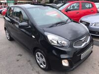 2012/61 KIA PICANTO 1.0 1 3 DOOR,BLACK,£FREE TAX,2 OWNERS,SERVICE HISTORY,LOOKS+DRIVES REALLY WELL