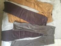 Men's smart casual work trousers three pairs size 32/32
