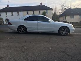 """Mercedes s320 cdi White auto 18""""alloys"""