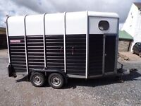 Wessex Treble Horse Trailer - This trailer carries 2 x 17.2h.h and 1 x 16.2h.h. horses