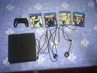 Ps4 Slim 500gb + all cables + 4 games