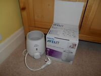 Avent Bottle Warmer and accessories