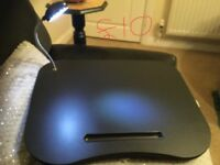Laptop tray - Excellent condition with working light!