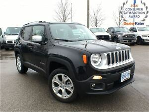2016 Jeep Renegade DEMO* ONLY 1500 KMS*LIMITED*4X4*NAVIGATION*BE