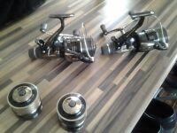 Shimano super baitrunner xtr 10,000 ra x2 ,,,,£80 each with spear spools