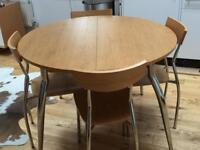 Dining Table and Chairs (4 Chairs)