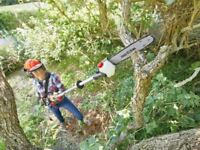 Electric Long Reach Corded Pole Pruner Hedge Trimmer Pruning Shears Tree Chainsaw Bushes Garden Yard