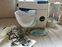 Kenwood Chef A701, with liquidiser, ceramic bowl, 3 attachments and vintage recipe books