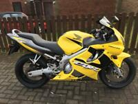 Honda CBR600F 2001 Yellow