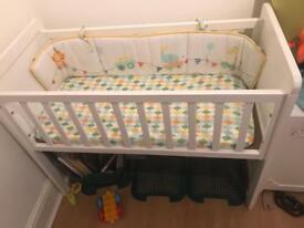 Mothercare new born crib and mattress