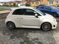 Fiat 500 abarth in pearl white 2012 low mileage