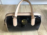 Faux leather black patent bag