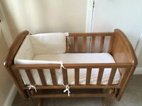 Crib for Sale with Mattress and set of bedding
