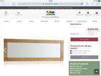 Brand new PREMIUM QUALITY OAK FRAMED WALL MIRROR. £130