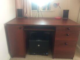Cherry wood Desk with storage