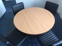Meeting table and 4 x Chairs