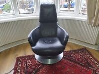 Natuzzi Brend Italian Leather armchair tub chair
