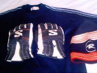 Ski jumper(blue medium) Rossignol gloves and hat